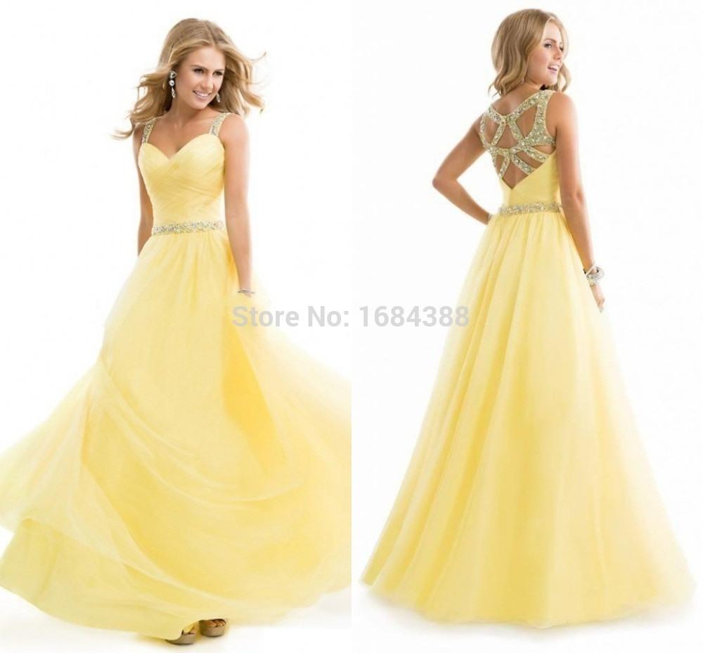 Erstaunlich Gelbe Abend Kleider Galerie13 Einfach Gelbe Abend Kleider Ärmel