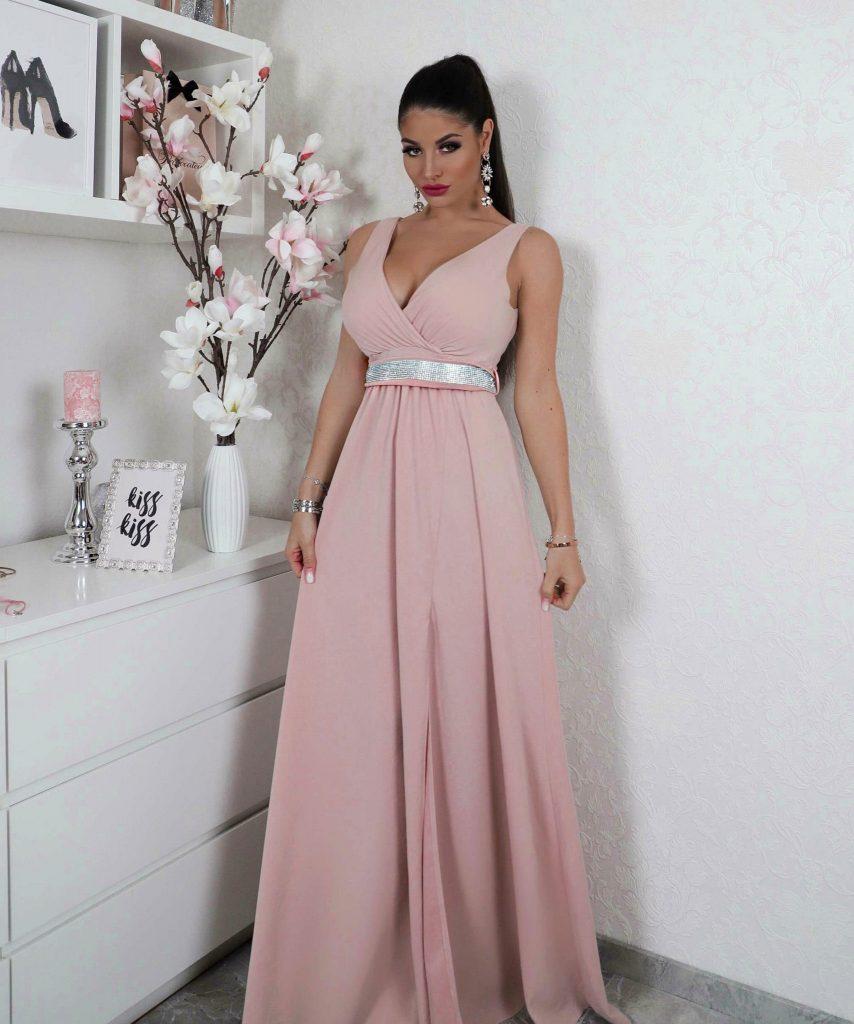Abend Großartig Rosa Kleid Kurz Vertrieb - Abendkleid