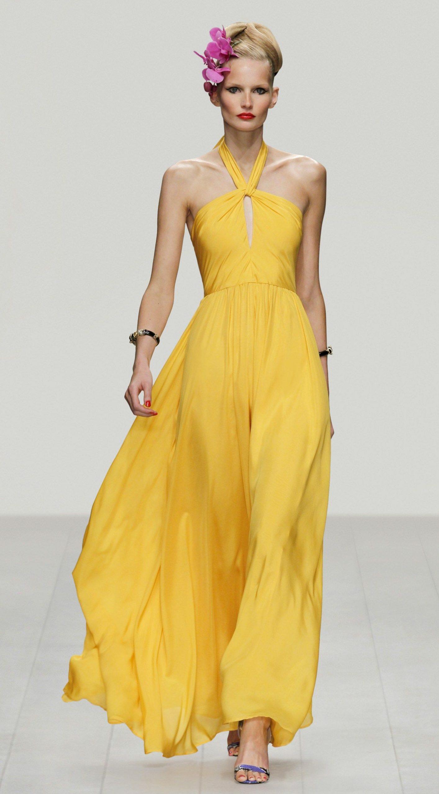 Designer Ausgezeichnet Abendkleid Gelb Ärmel20 Spektakulär Abendkleid Gelb Ärmel