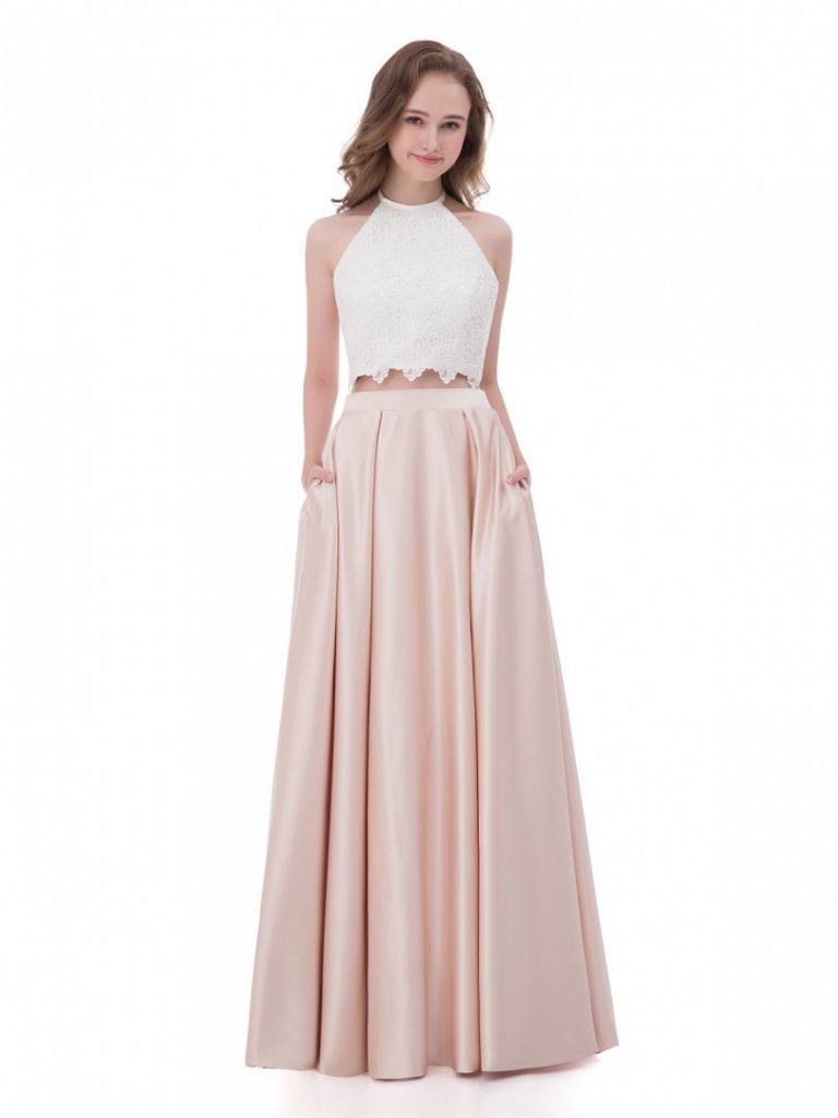 Abend Luxus Abendkleid Zweiteilig Lang Design - Abendkleid