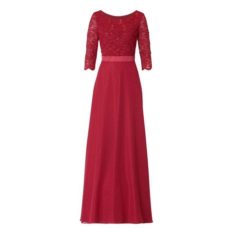 abend schön vera mont abendkleid rot stylish - abendkleid