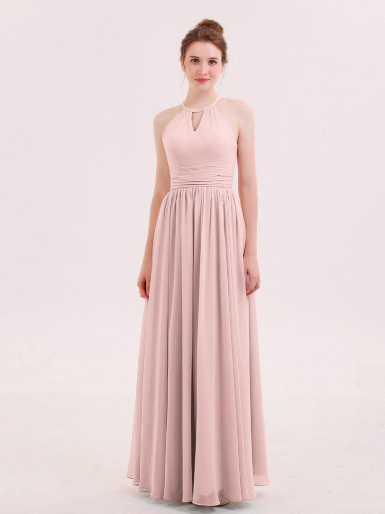 Designer Einzigartig Altrosa Kleid Lang Stylish Abendkleid