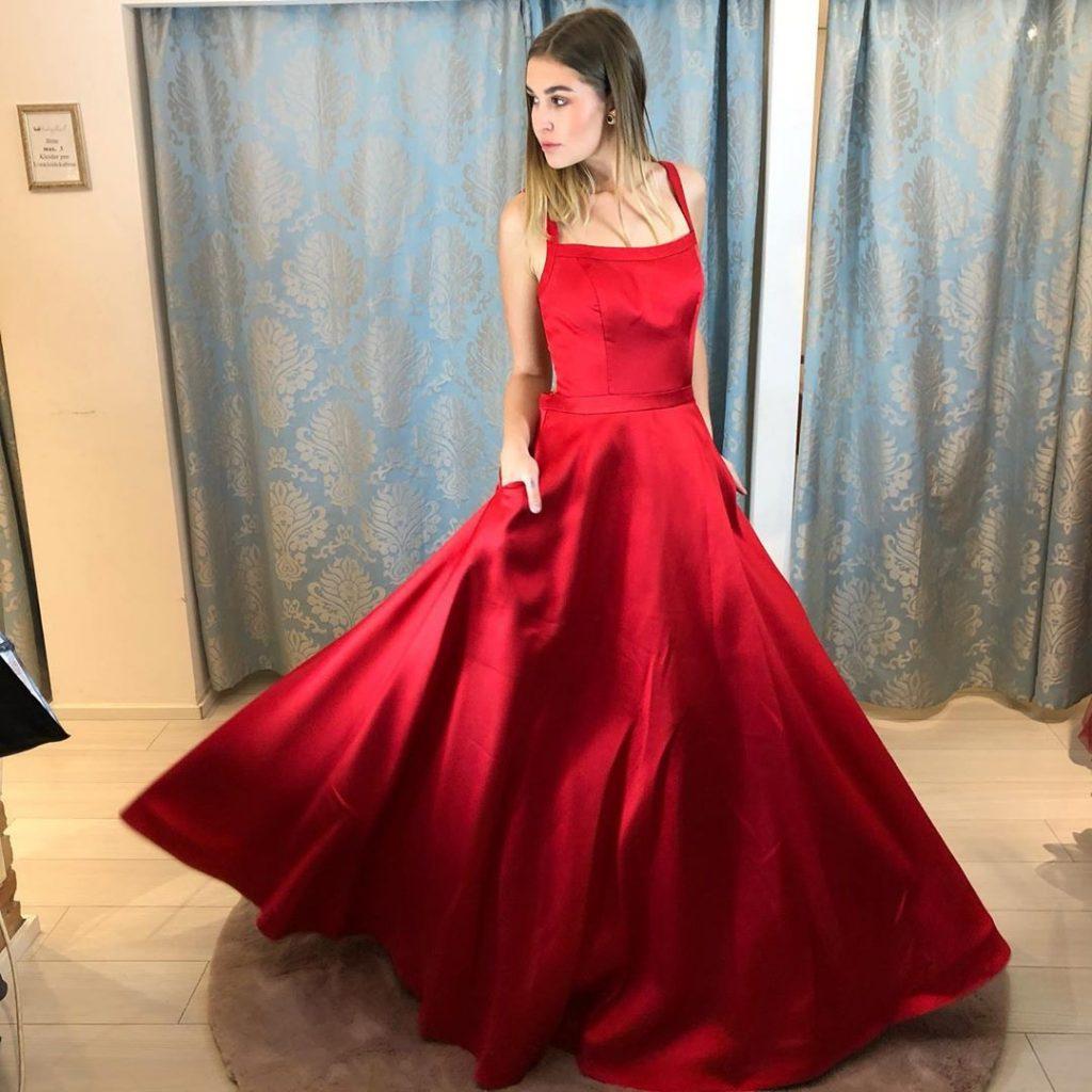 Designer Elegant Rote Abendkleider Lang Boutique - Abendkleid