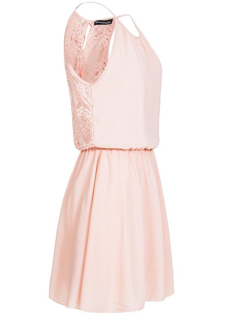 Designer Erstaunlich Kleid Spitze Rosa Boutique - Abendkleid
