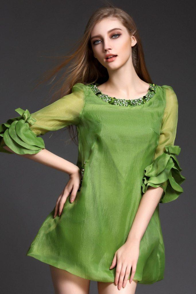 Designer Fantastisch Elegantes Grünes Kleid Vertrieb ...