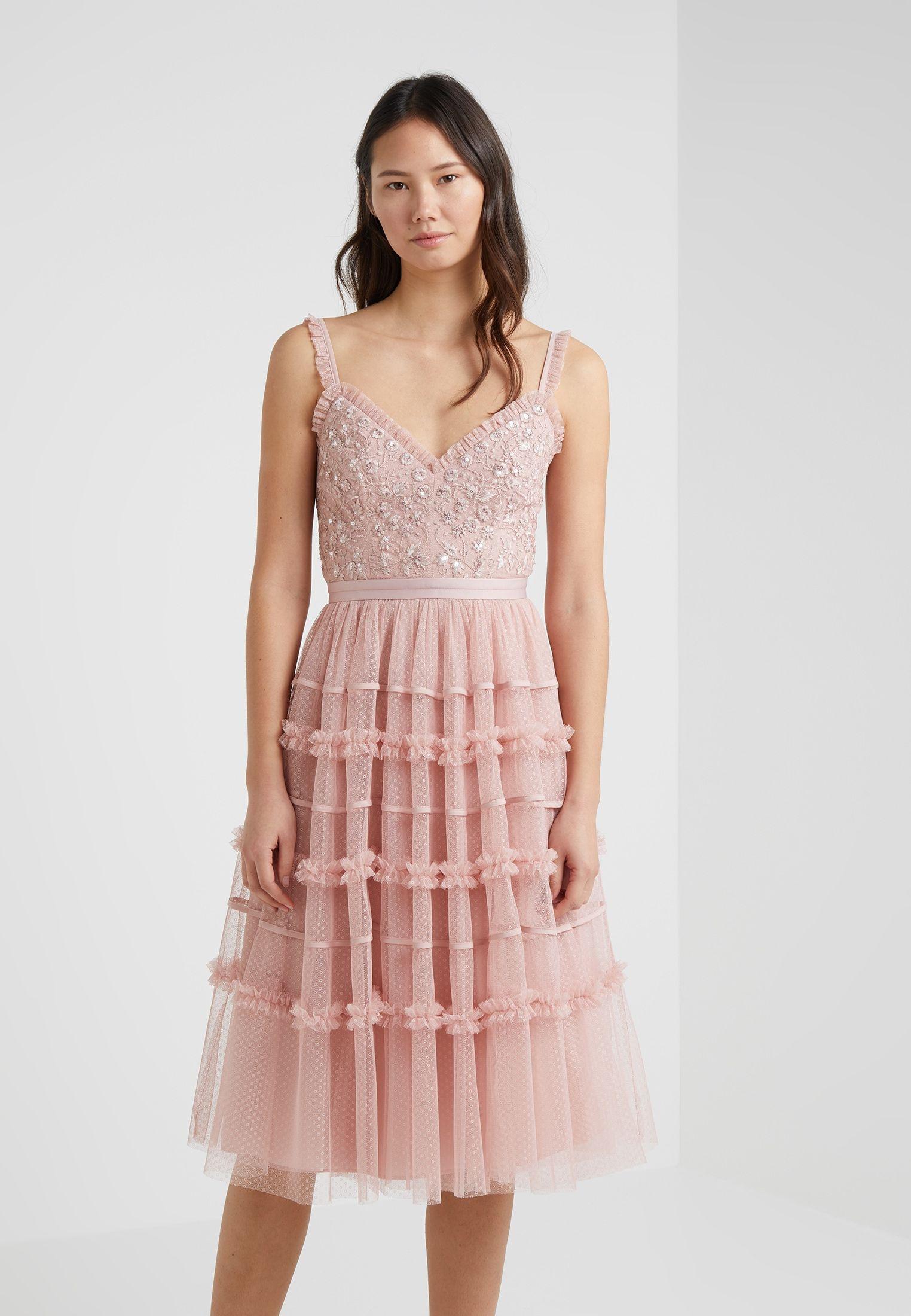 Designer Leicht Festliches Kleid Rose ÄrmelAbend Einfach Festliches Kleid Rose Galerie