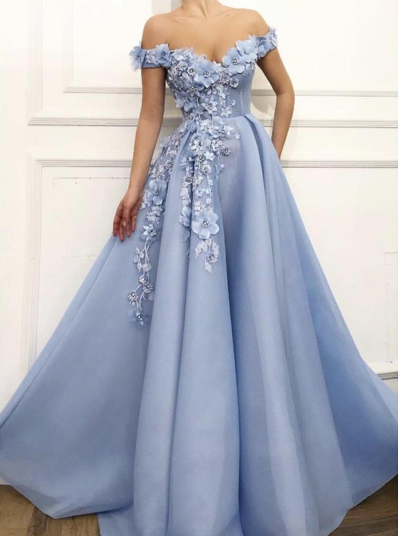 Formal Wunderbar Blau Abendkleid Design Elegant Blau Abendkleid für 2019
