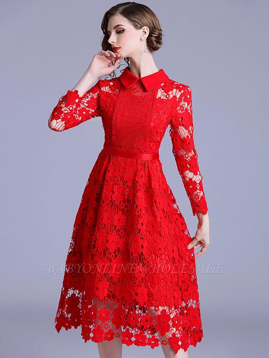 Formal Schön Rotes Kleid Mit Spitze für 201920 Erstaunlich Rotes Kleid Mit Spitze Spezialgebiet