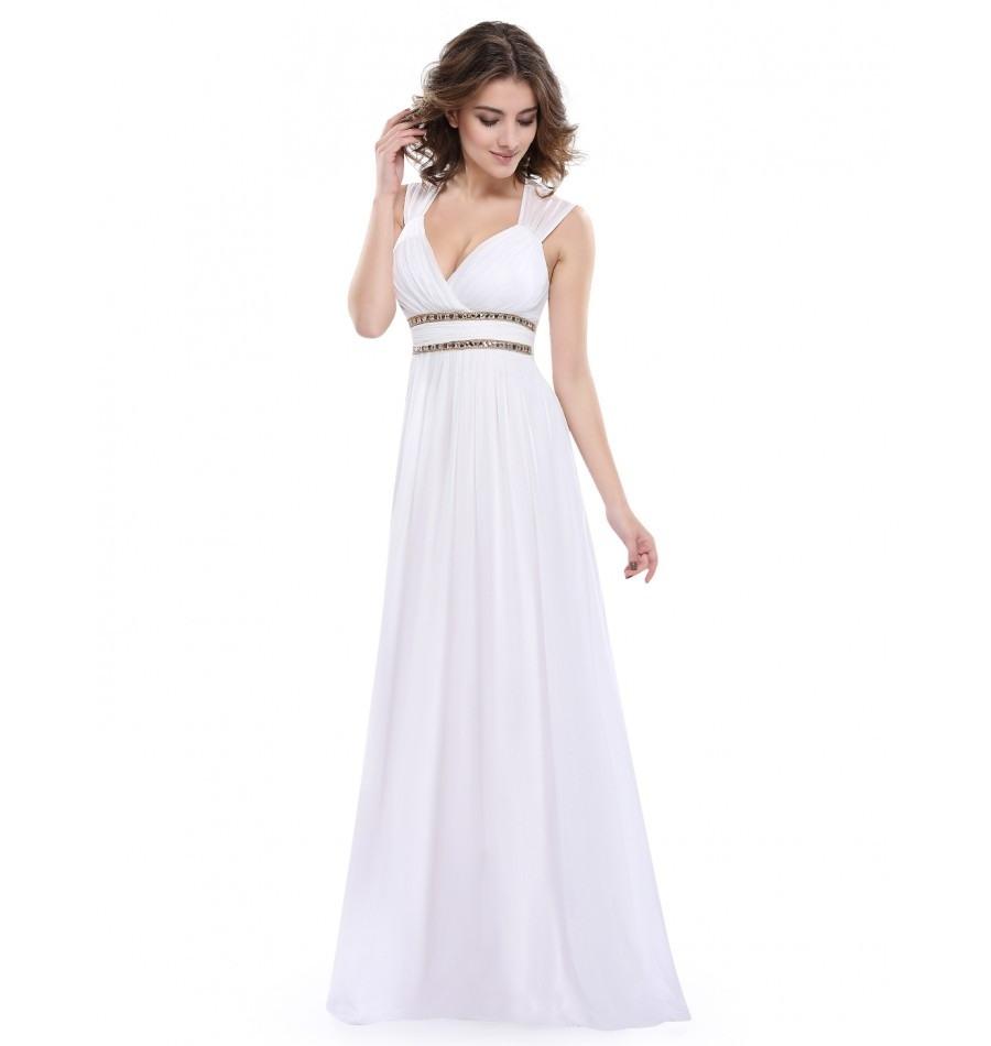 20 Schön Kleid Lang Weiß Ärmel15 Perfekt Kleid Lang Weiß Galerie