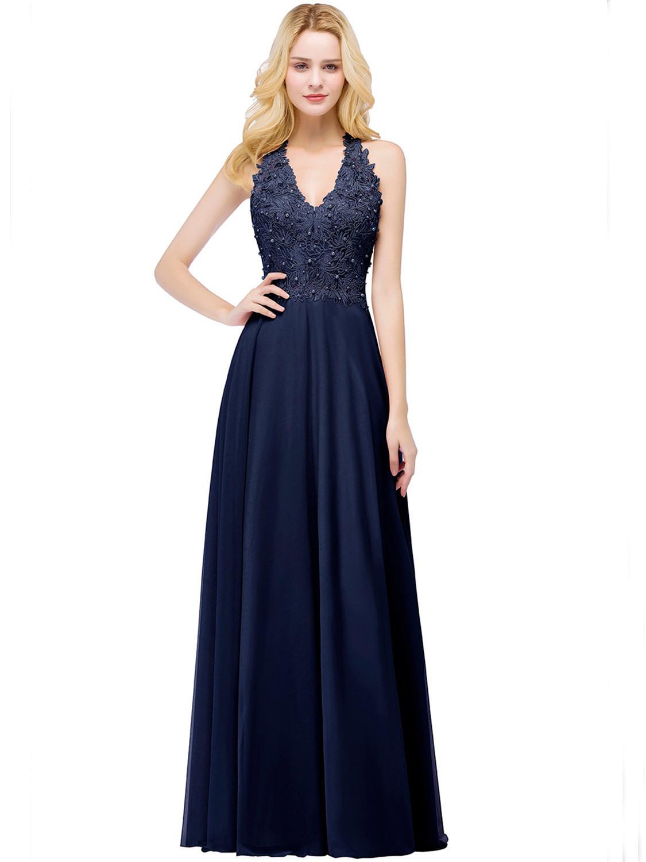Designer Spektakulär Abend Kleid Dunkel Blau SpezialgebietAbend Schön Abend Kleid Dunkel Blau Bester Preis