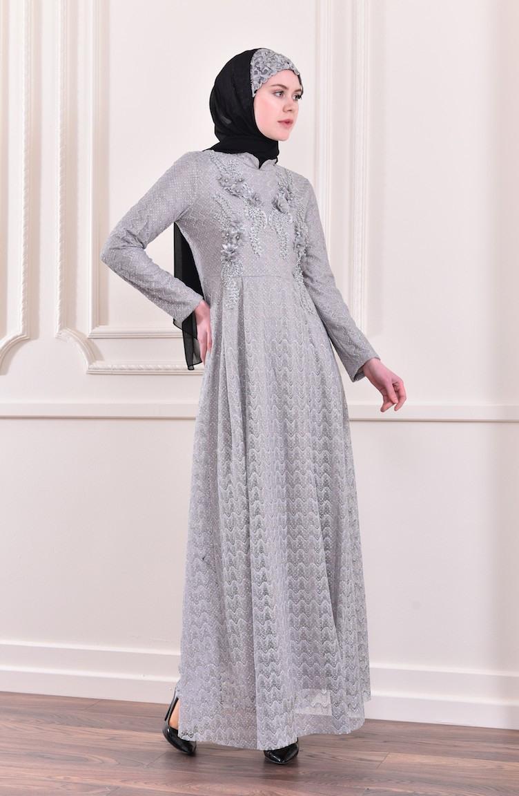 Abend Schön Abendkleid Grau Design13 Einzigartig Abendkleid Grau Bester Preis