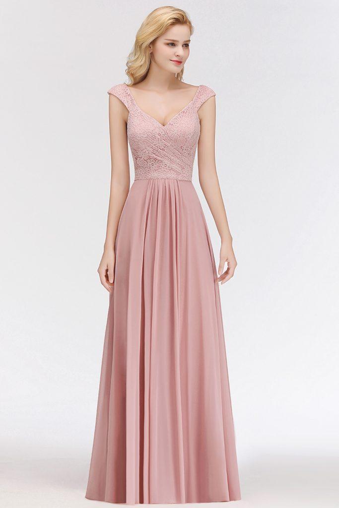 Formal Luxurius Altrosa Kleid Lang für 2019 - Abendkleid