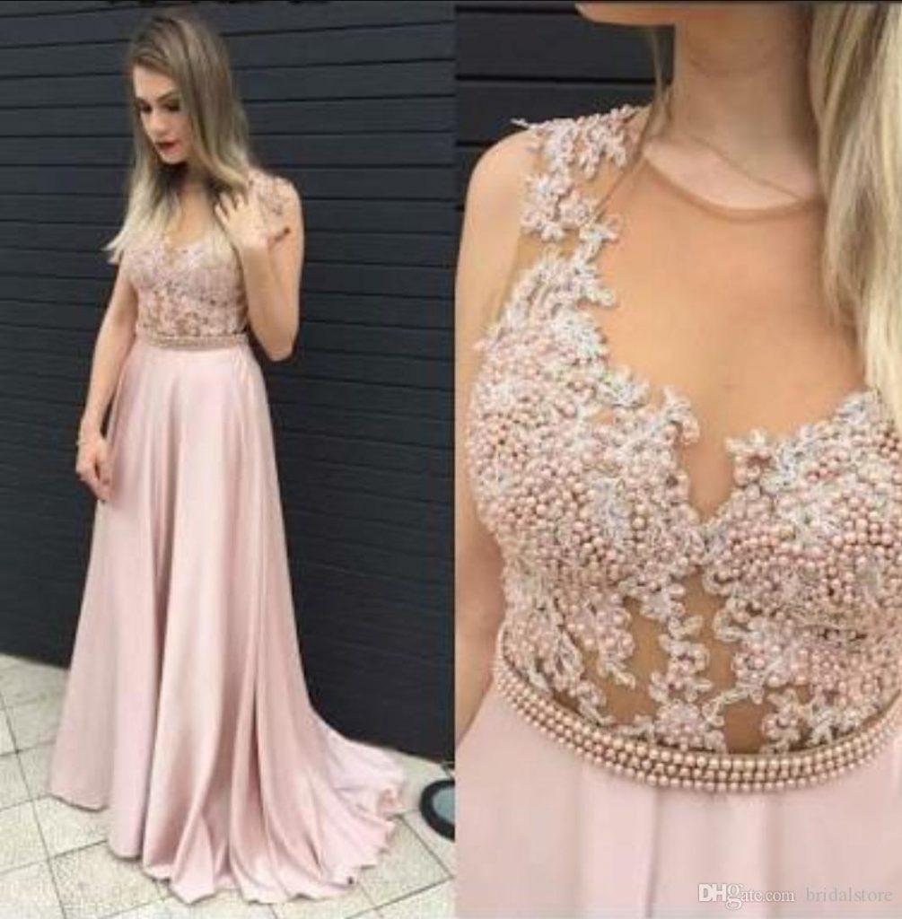Formal Luxus Abendkleider Lang Rosa für 11 - Abendkleid