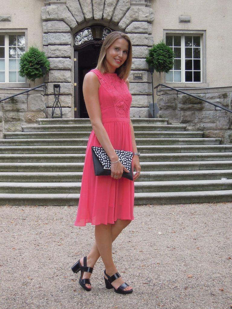 Formal Schön Kleid Pink Hochzeit Ärmel - Abendkleid