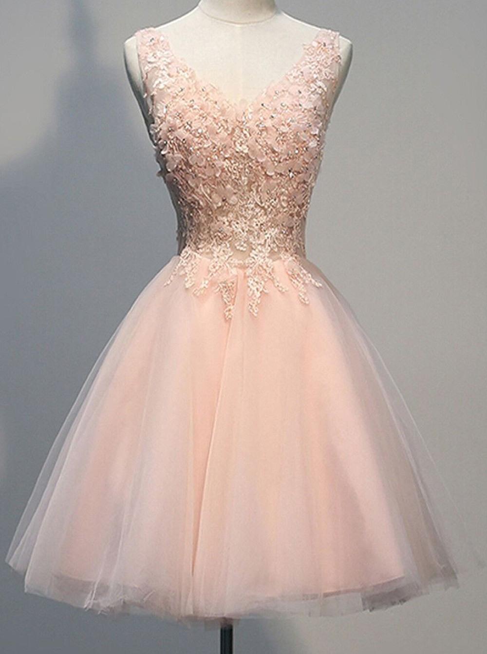 15 Ausgezeichnet Rosa Kleid Kurz Stylish Elegant Rosa Kleid Kurz Ärmel