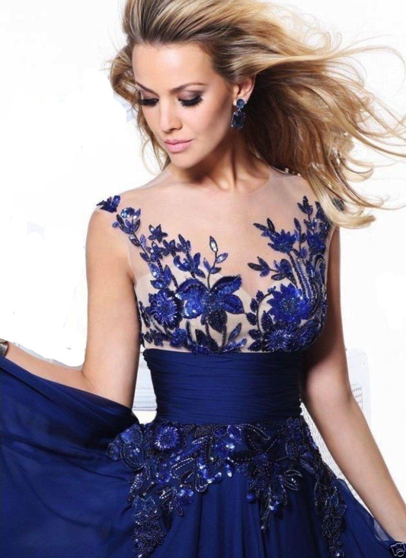 15 Genial Blau Abend Kleider Ärmel20 Perfekt Blau Abend Kleider für 2019