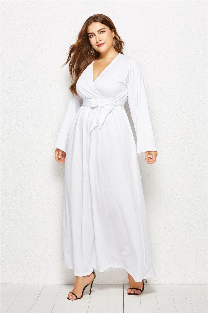 Luxurius Kleid Lang Weiß für 2019 - Abendkleid