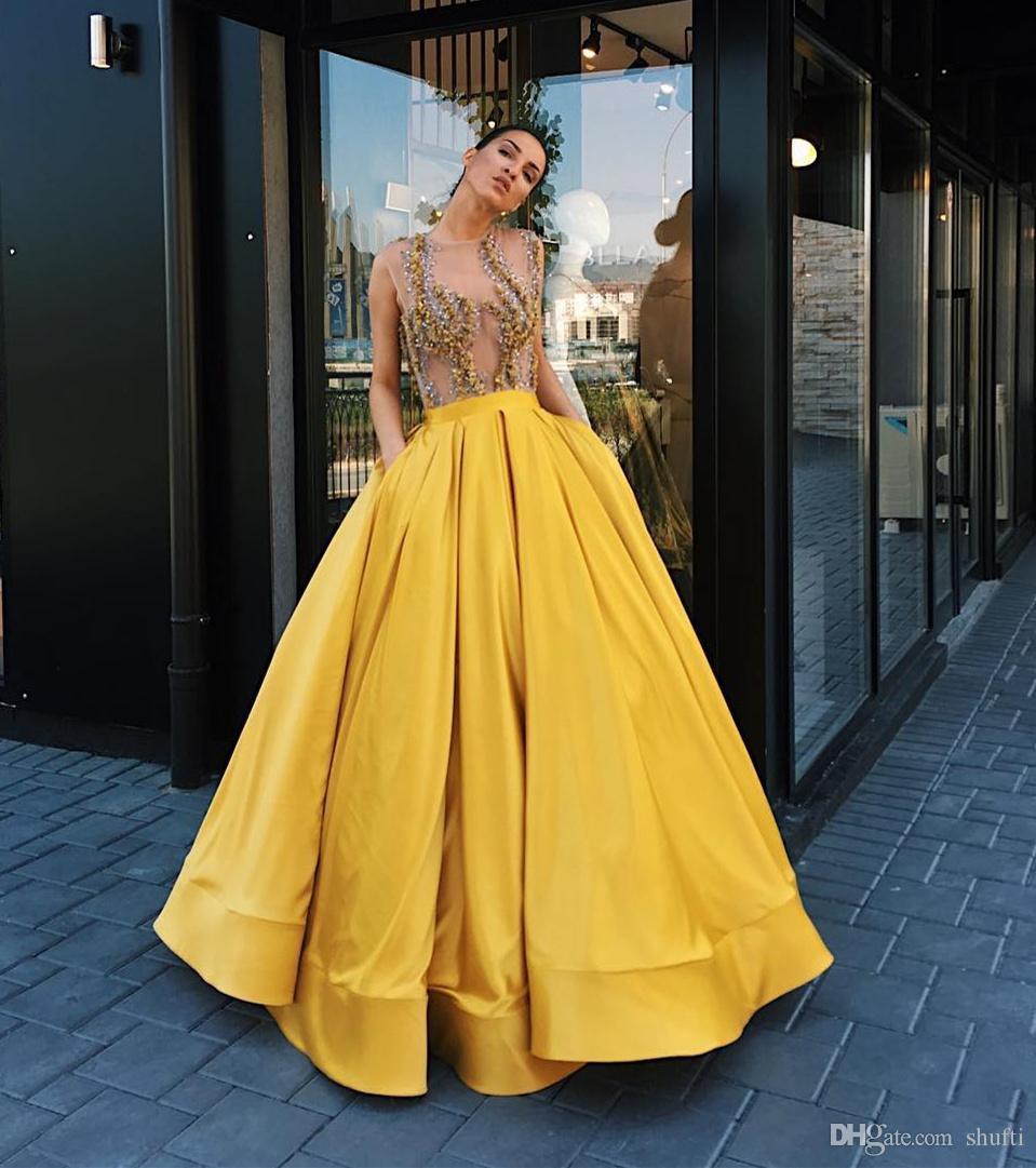 Designer Luxurius Gelbe Abend Kleider VertriebFormal Perfekt Gelbe Abend Kleider Vertrieb
