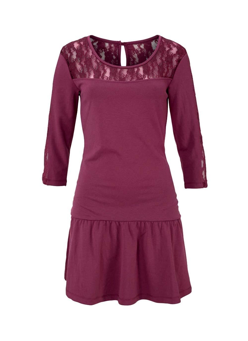 17 Einzigartig Kleid Spitze Bordeaux Ärmel10 Ausgezeichnet Kleid Spitze Bordeaux Bester Preis