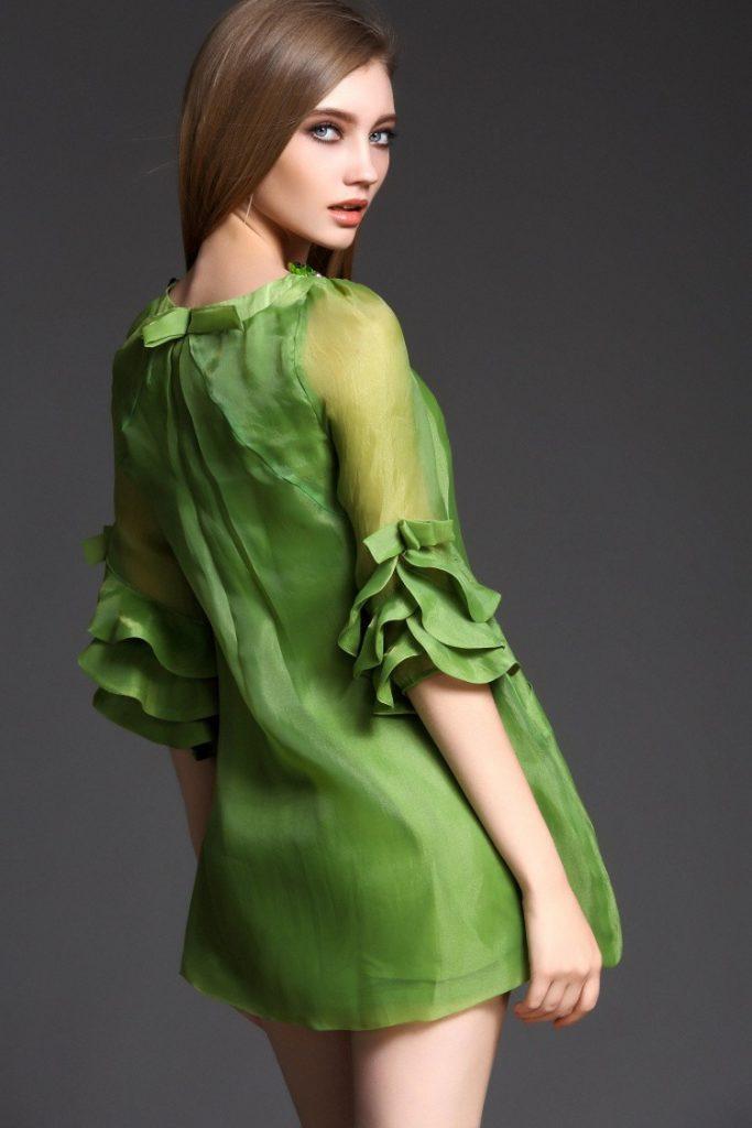 Top Elegantes Grünes Kleid Galerie - Abendkleid