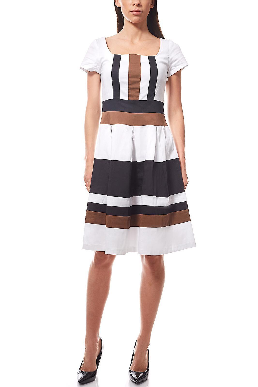 Formal Coolste Kleid Gestreift Spezialgebiet Luxus Kleid Gestreift Ärmel
