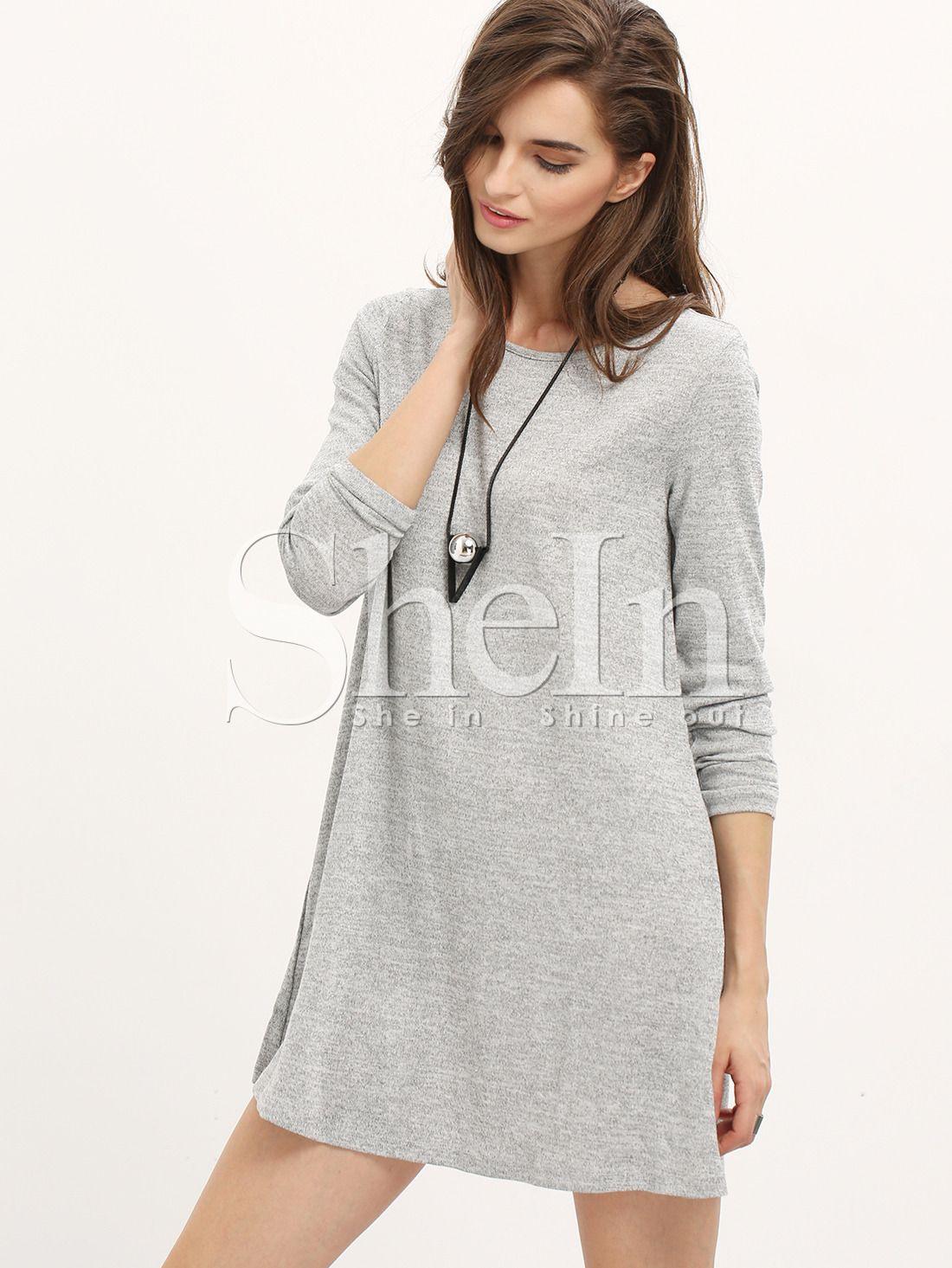 20 Fantastisch Kleid Grau Langarm Stylish20 Perfekt Kleid Grau Langarm Bester Preis