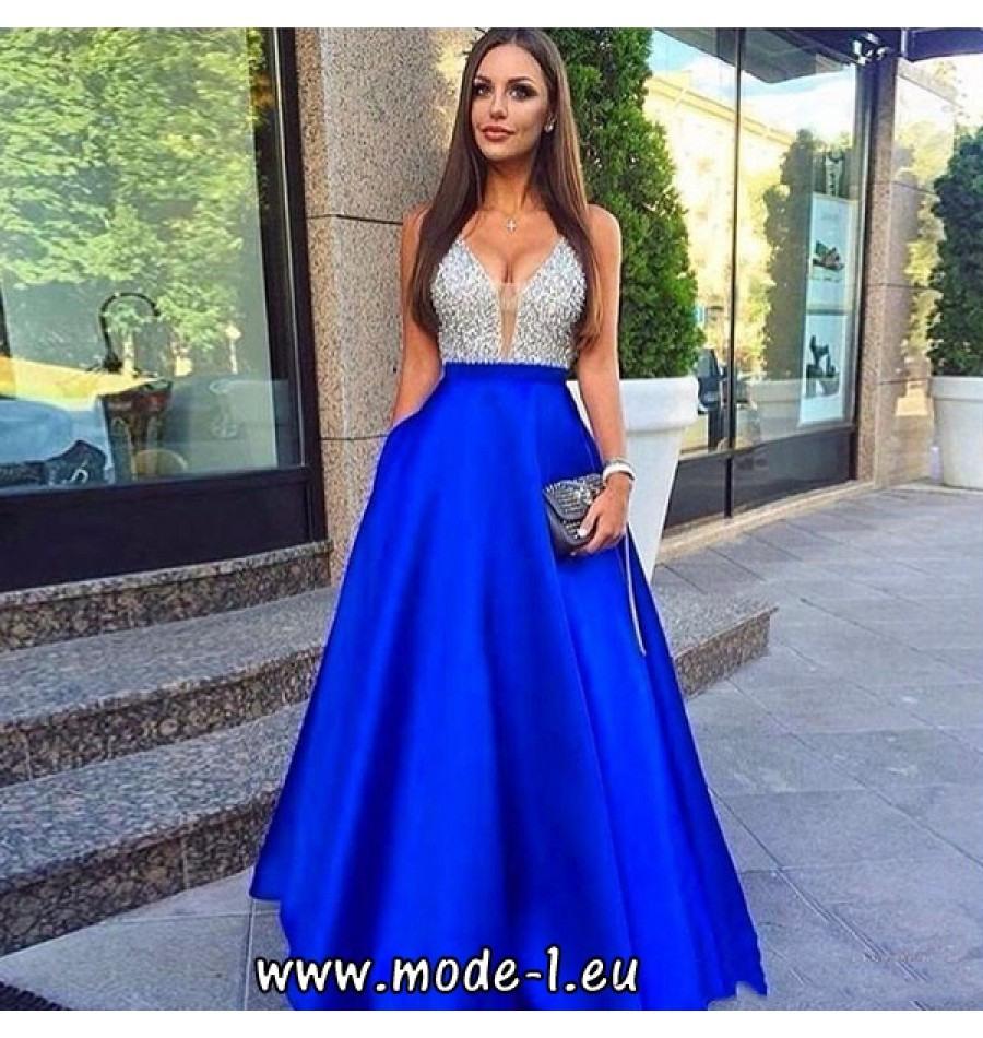 15 Coolste Abendkleid Royalblau SpezialgebietAbend Ausgezeichnet Abendkleid Royalblau für 2019