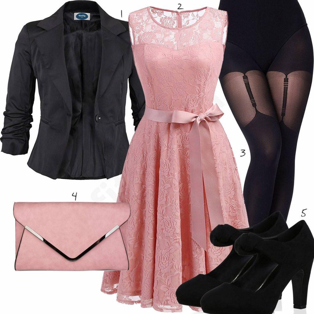 10 Fantastisch Rosa Schwarzes Kleid Spezialgebiet - Abendkleid