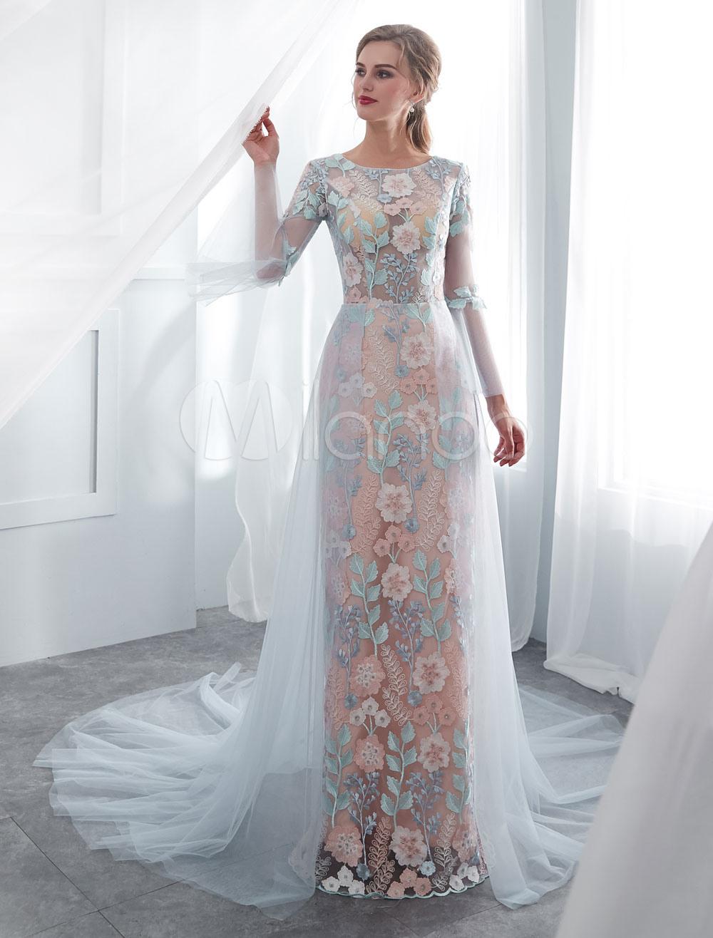 Abend Großartig Farbige Brautkleider Ärmel13 Wunderbar Farbige Brautkleider Boutique