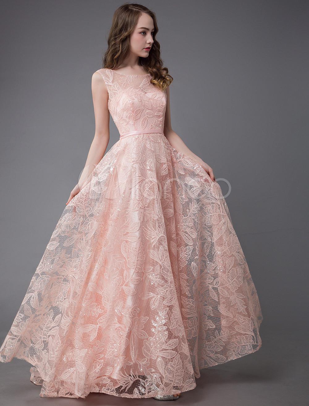 20 Großartig Rosa Abendkleid Galerie Wunderbar Rosa Abendkleid Ärmel