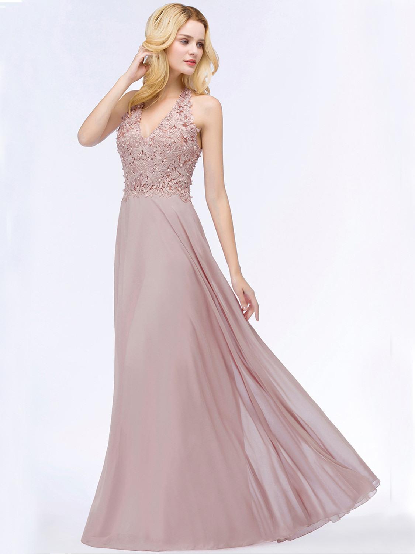 Designer Schön Abendkleid Altrosa Lang für 2019Abend Perfekt Abendkleid Altrosa Lang Boutique