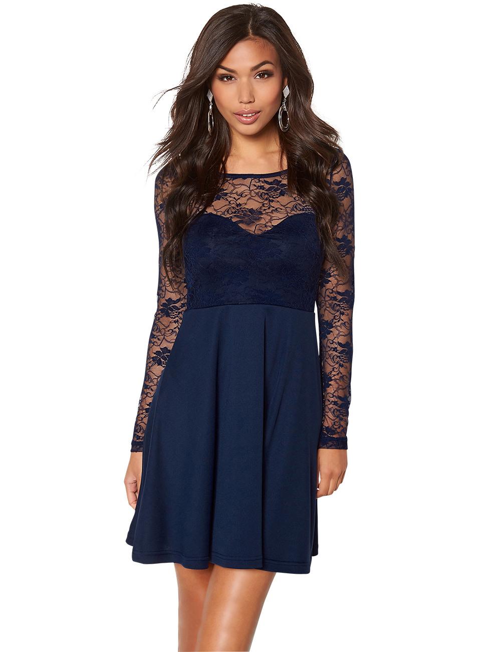 Luxus Kleid Mit Spitzenärmeln Spezialgebiet Schön Kleid Mit Spitzenärmeln Stylish