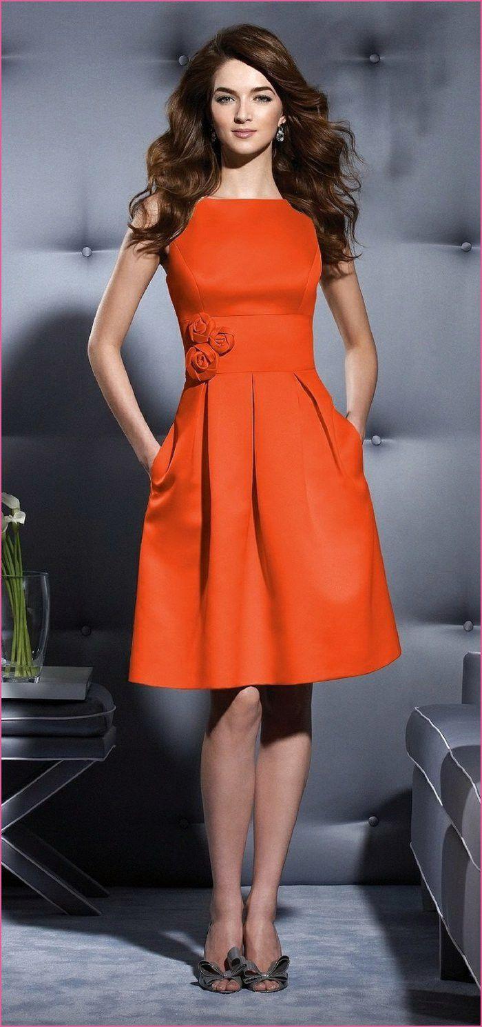 Abend Einzigartig Kleid Orange Kurz Galerie Top Kleid Orange Kurz Boutique