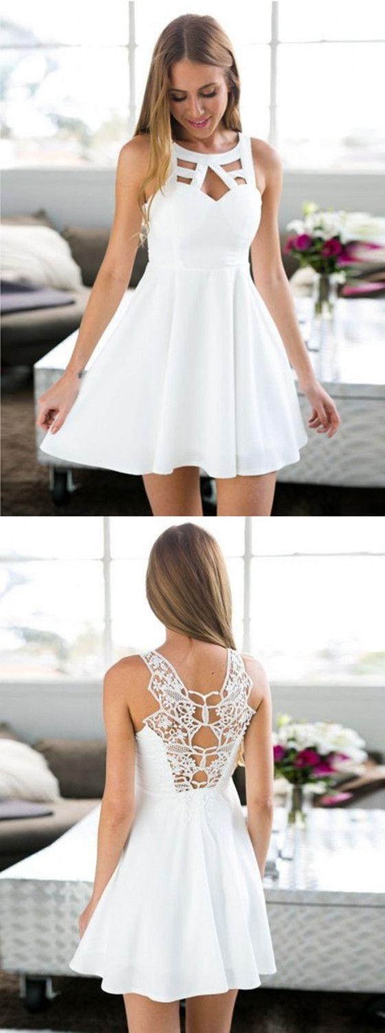 fantastisch kurze weiße kleider für 2019 - abendkleid
