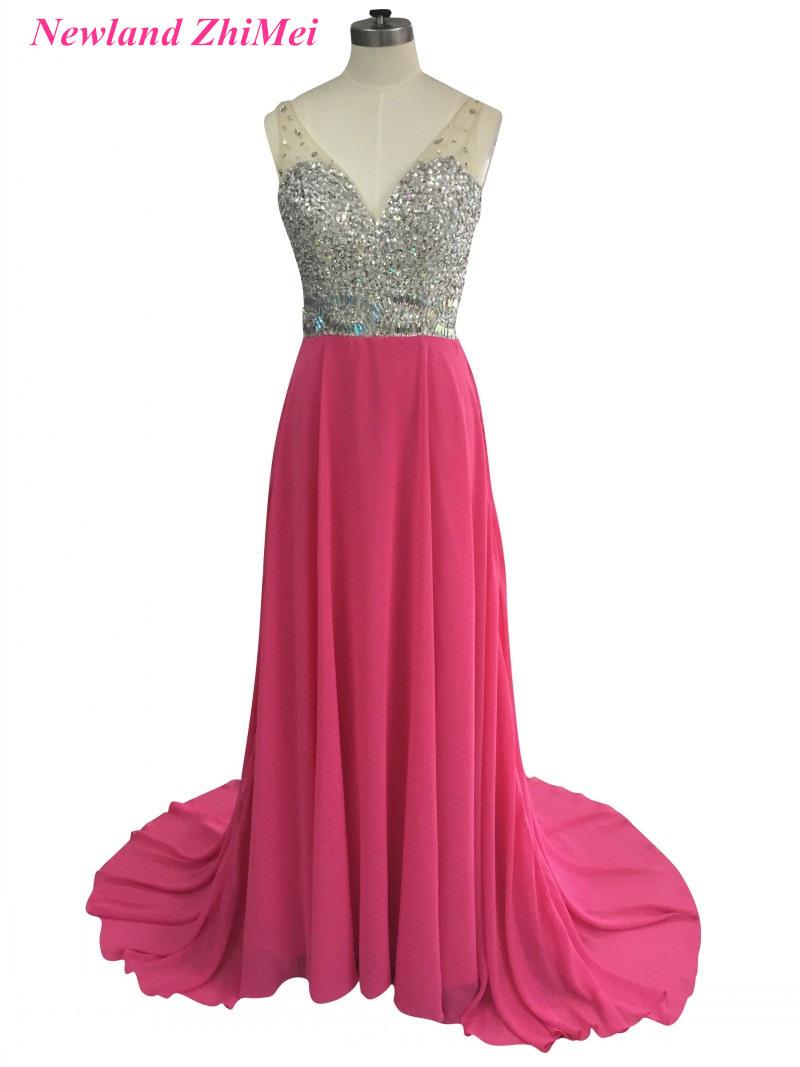 Formal Einzigartig Abendkleid Rosa Lang Ärmel17 Luxus Abendkleid Rosa Lang Design