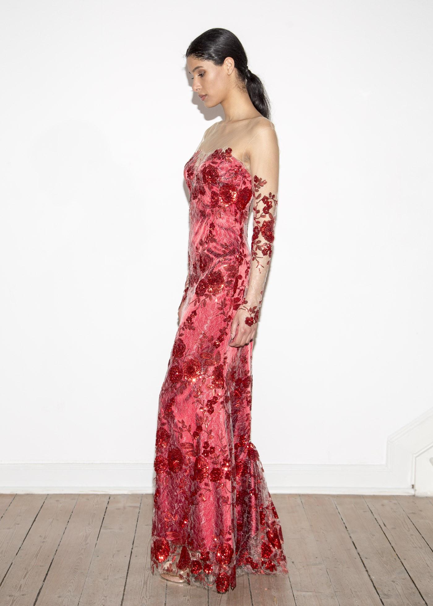 Luxurius Abendkleid Tattoo Spitze Spezialgebiet - Abendkleid