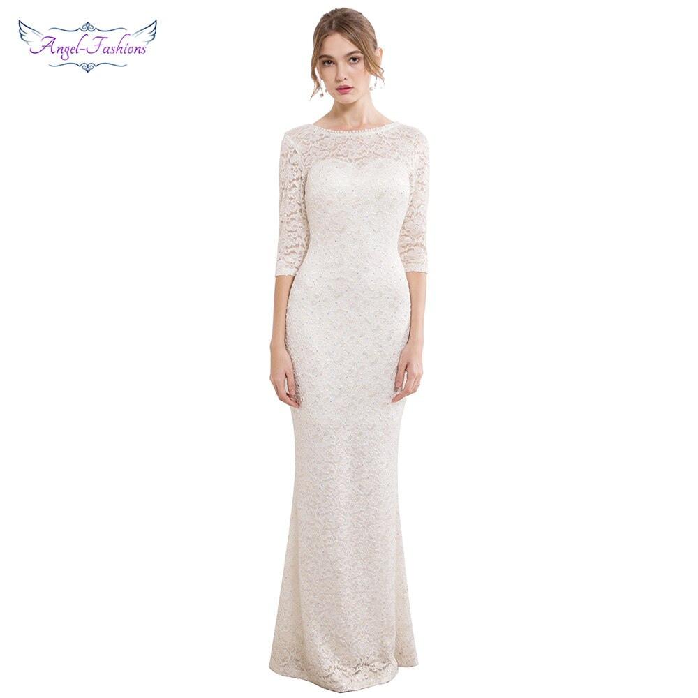 Abend Ausgezeichnet Abendkleid Weiß Spitze Bester PreisFormal Schön Abendkleid Weiß Spitze Bester Preis