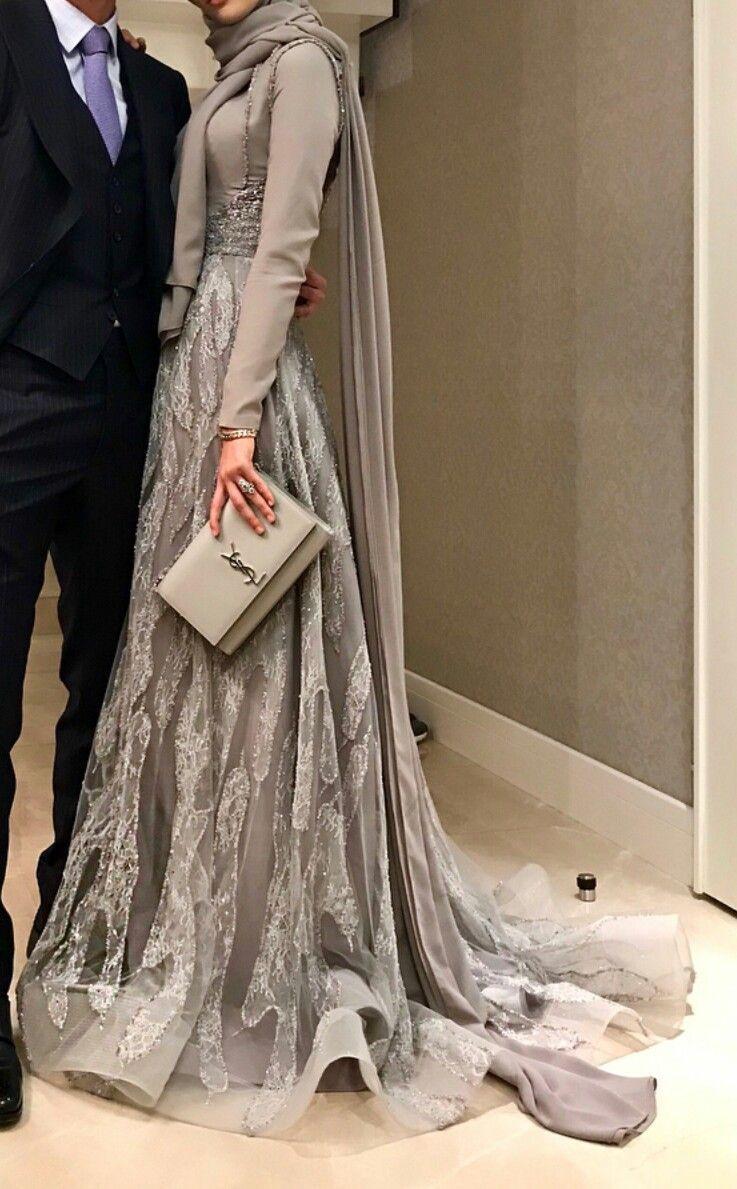 Schön Hijab Abendkleid Stylish - Abendkleid