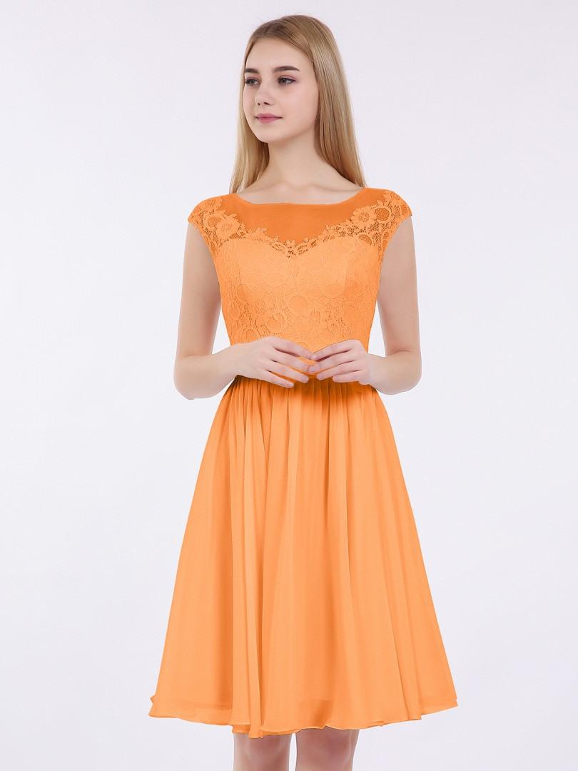 Cool Kleid Orange Kurz Ärmel17 Genial Kleid Orange Kurz Galerie