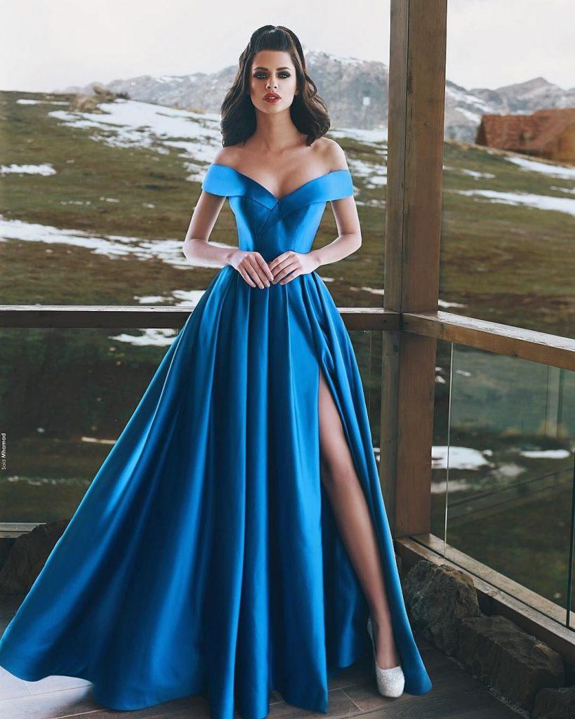 10 Spektakulär Abend Kleider Lang Blau Spezialgebiet ...