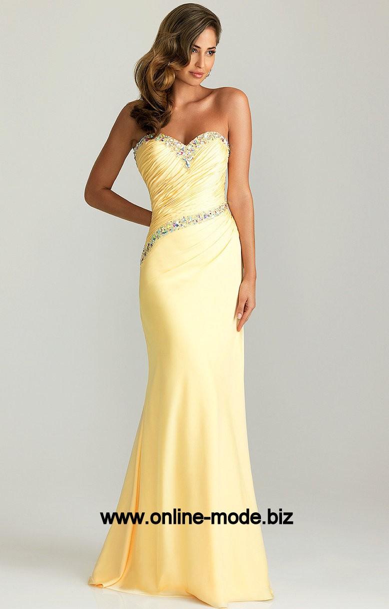 20 Schön Gelbes Abendkleid Design13 Perfekt Gelbes Abendkleid Ärmel