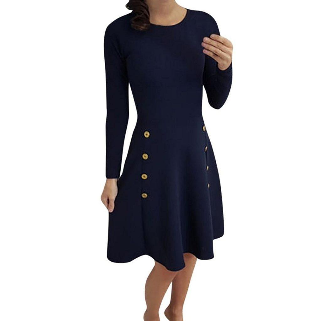 4 Top Winterkleider Langarm Design - Abendkleid