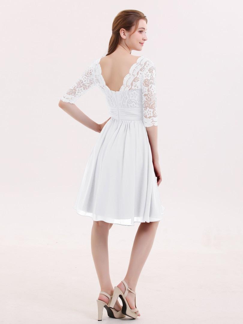 13 Genial Kleid Weiß Kurz StylishAbend Schön Kleid Weiß Kurz Bester Preis