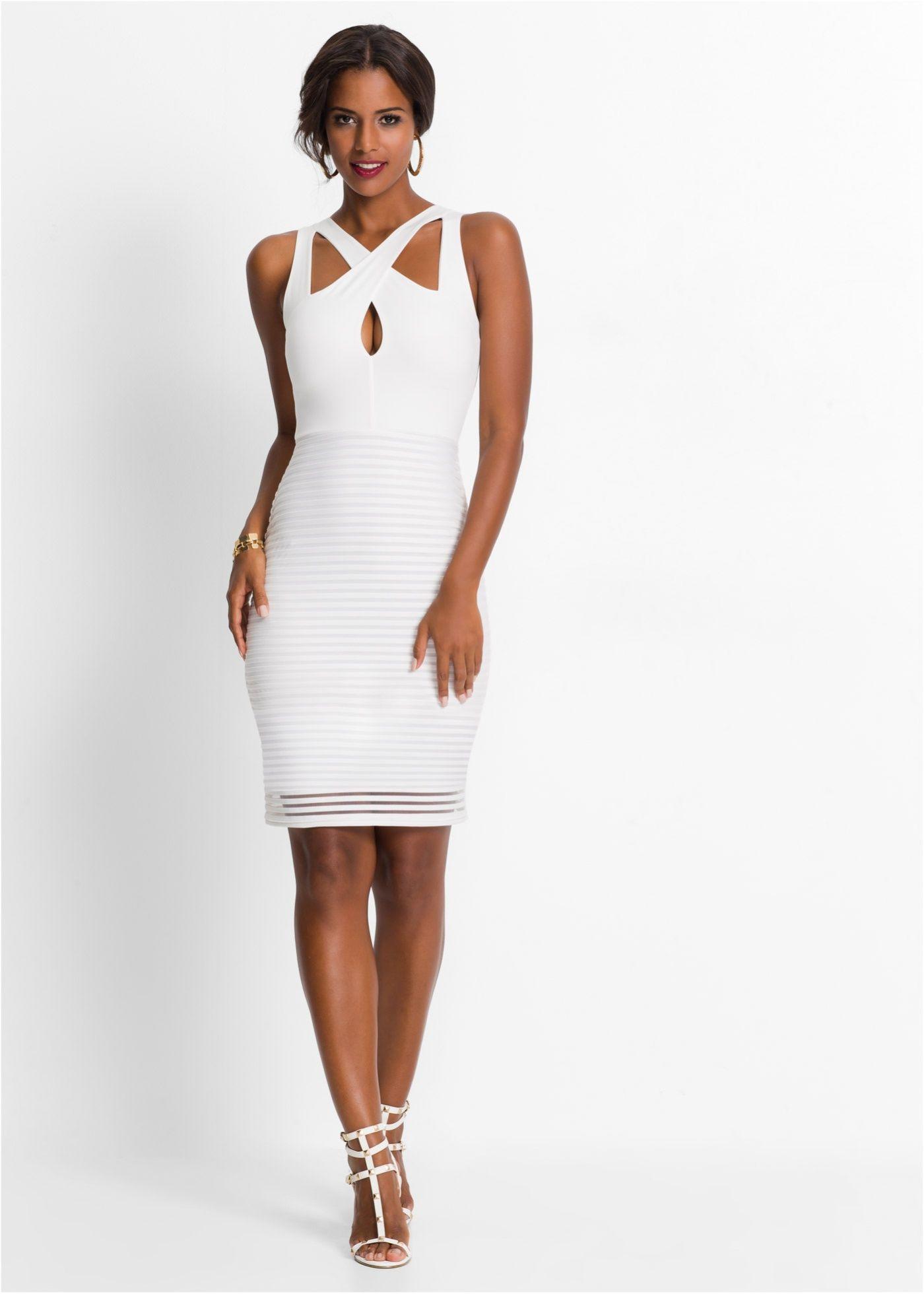 10 Ausgezeichnet Kleid Weiß Elegant StylishAbend Schön Kleid Weiß Elegant für 2019