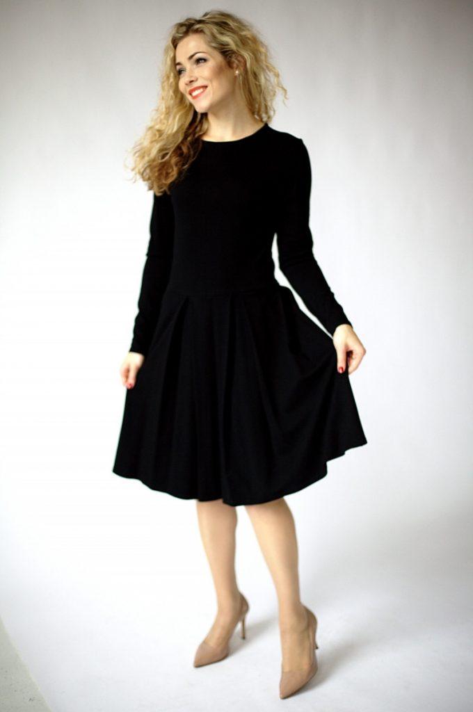 13 Coolste Schicke Langarm Kleider Bester Preis - Abendkleid
