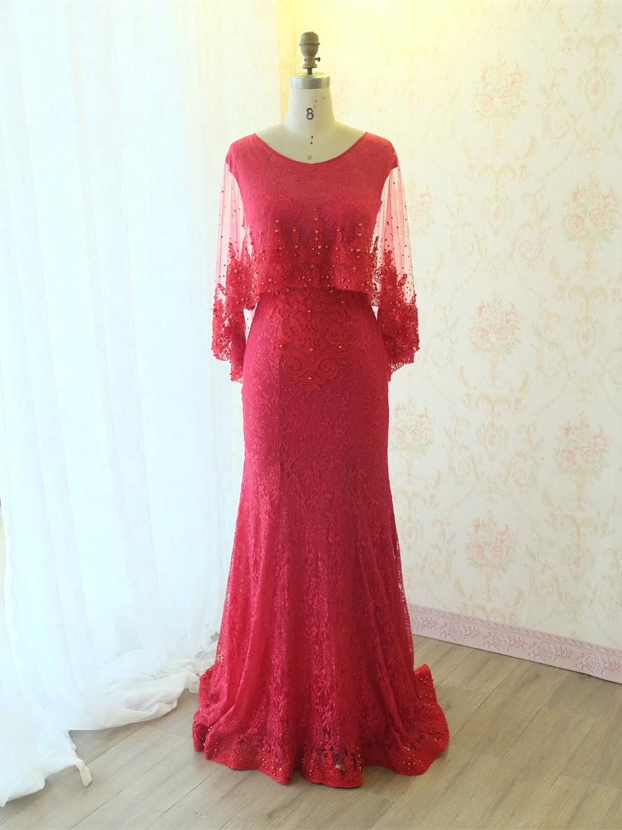 Abend Erstaunlich Abendkleid Lang Rot StylishDesigner Einfach Abendkleid Lang Rot Design
