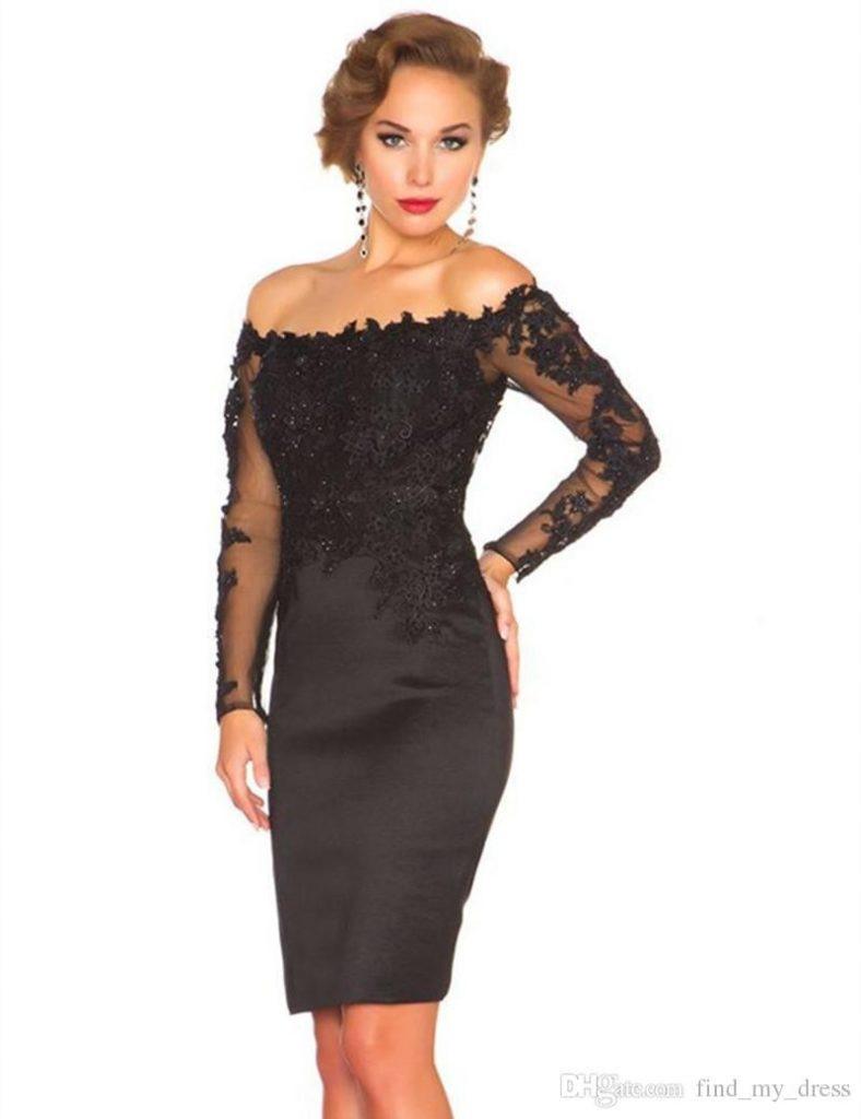 20 Schön Elegante Kleider Schwarz ÄrmelFormal Einzigartig Elegante Kleider Schwarz Ärmel