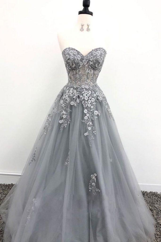 13 Genial Graues Abendkleid Ärmel - Abendkleid
