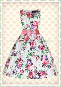 Perfekt Kleid Weiß Blumen Ärmel Luxurius Kleid Weiß Blumen Bester Preis