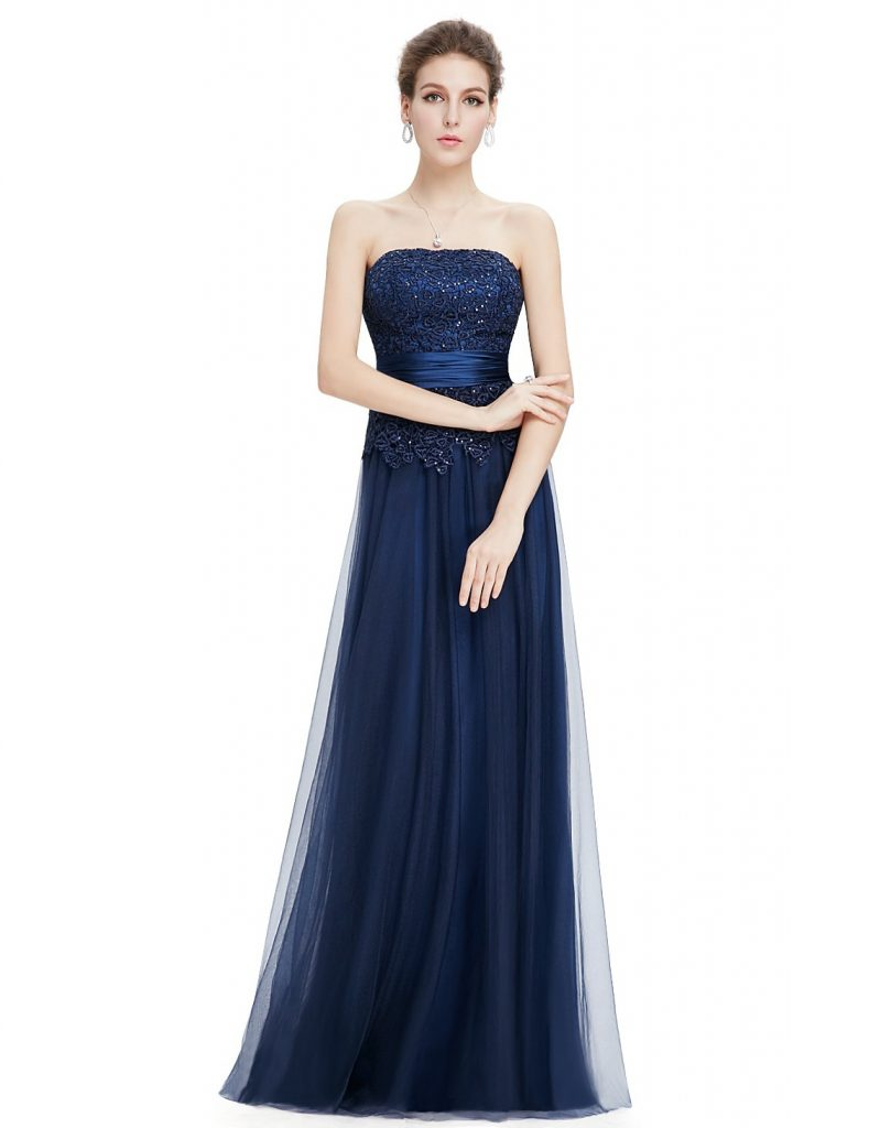 10 Luxus Abendkleid Lang Blau Design - Abendkleid